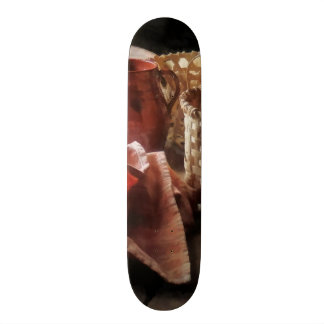 Clay Pitchers Bowl and Baskets Custom Skateboard