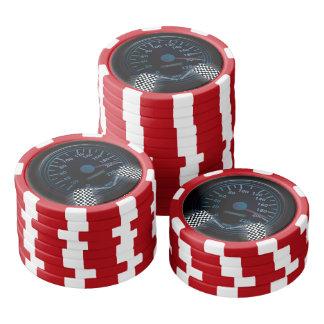 Clay Poker Chips SPEEDOMETER FINISH FLAG
