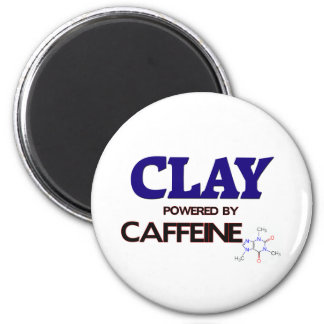 Clay powered by caffeine refrigerator magnets