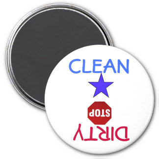 Clean Dirty Dishes in Dishwasher 7.5 Cm Round Magnet