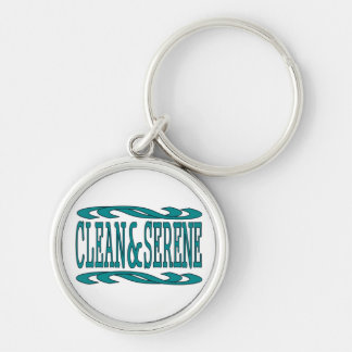 Clean & Serene Silver-Colored Round Key Ring