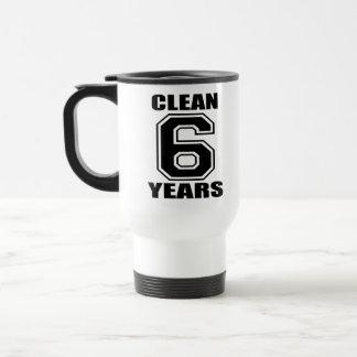 clean six years black mugs