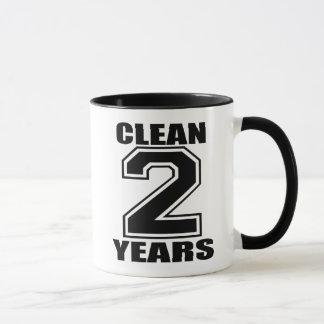 clean three years black mug
