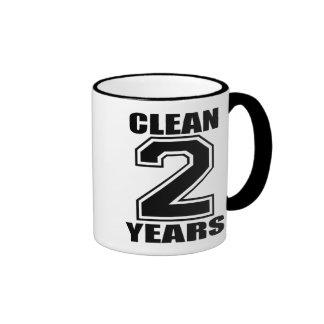 clean three years black coffee mug