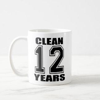 clean twelve years black mug