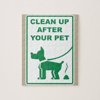 Clean Up After Your Pet Sign Jigsaw Puzzle