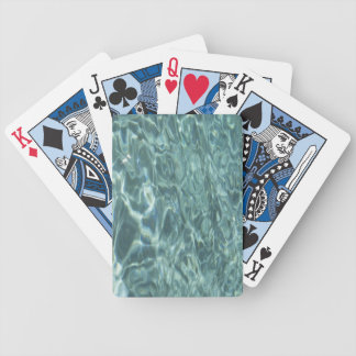 Clear Blue Green Water Bicycle Playing Cards