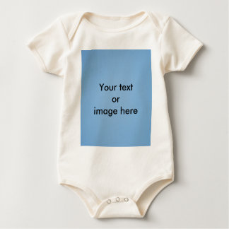 Clear blue sky photo template baby bodysuit