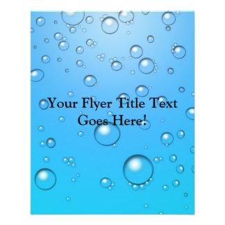 Clear Bubbles, Blue Water 11.5 Cm X 14 Cm Flyer