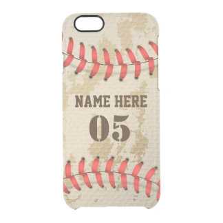 Clear Cool Vintage Baseball Clear iPhone 6/6S Case