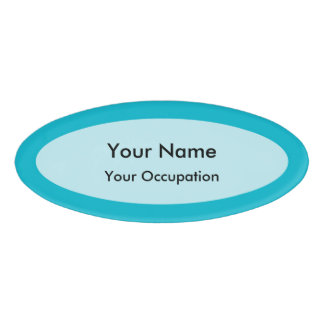 Clear Template Oval Name Tag
