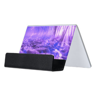 Clearing in the Forest Desk Business Card Holder