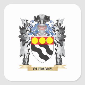 Clemans Coat of Arms - Family Crest Square Sticker