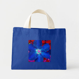 Clematis blue mini tote bag