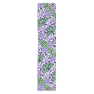 Clematis Purple Short Table Runner