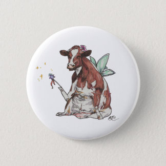 Clementine the Fairy Cow 6 Cm Round Badge