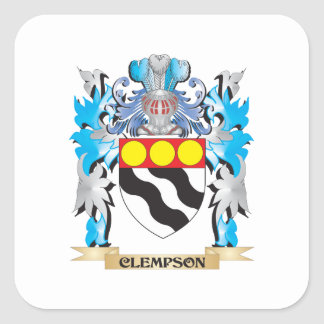 Clempson Coat of Arms - Family Crest Square Stickers