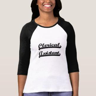 Clerical Assistant Classic Job Design Tshirt