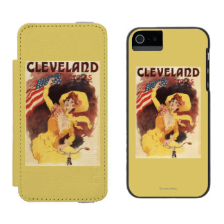 Cleveland Bicycles American Girl in Yellow Incipio Watson™ iPhone 5 Wallet Case