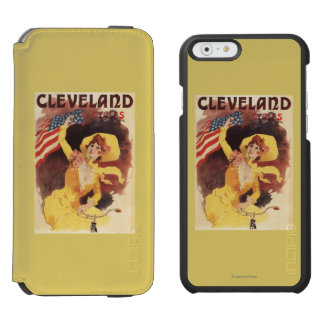 Cleveland Bicycles American Girl in Yellow Incipio Watson™ iPhone 6 Wallet Case
