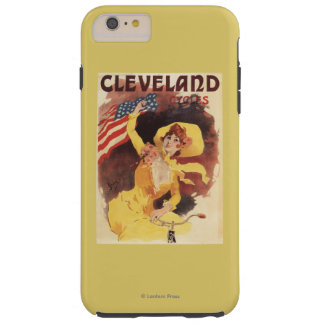 Cleveland Bicycles American Girl in Yellow Tough iPhone 6 Plus Case