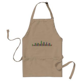 Cleveland city skyline standard apron
