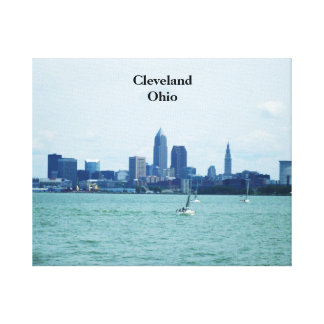 CLEVELAND OHIO FROM LAKE ERIE canvas