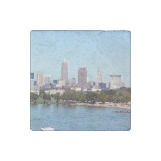 Cleveland Ohio (Lake View) Stone Magnet