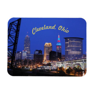 Cleveland,Ohio Night on the Town Magnet (Curve)