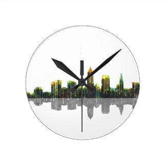 Cleveland Ohio Skyline Round Clock