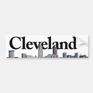 Cleveland Ohio Skyline with Cleveland in the Sky Bumper Sticker