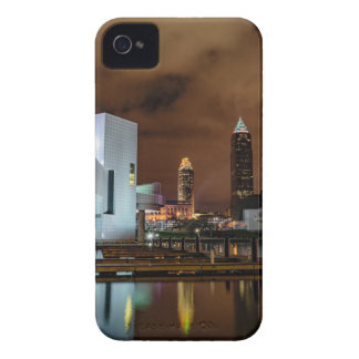 Cleveland Skyline at Night iPhone 4 Covers