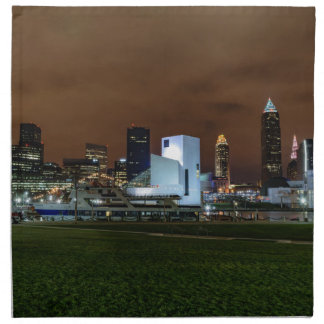 Cleveland Skyline at Night Napkin