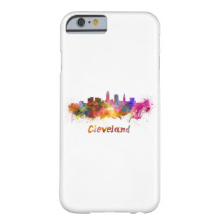 Cleveland skyline in watercolor barely there iPhone 6 case