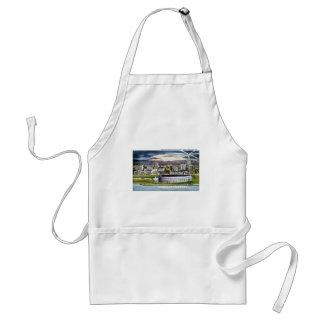 Cleveland Stadium Skyline at Dusk, Cleveland, Ohio Standard Apron
