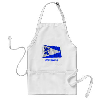 Cleveland Waving Flag with Name Standard Apron