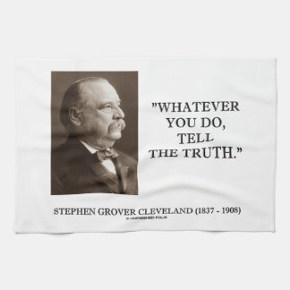 Cleveland Whatever You Do, Tell The Truth Tea Towel