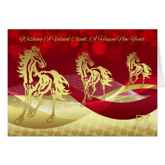 Client Chinese New Year, Year Of The Horse Card