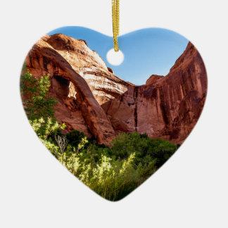 Cliff Arch Sunrise - Coyote Gulch - Utah Ceramic Heart Decoration