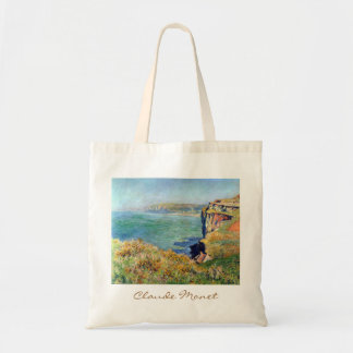 Cliff at Grainval by Claude Monet Tote Bag