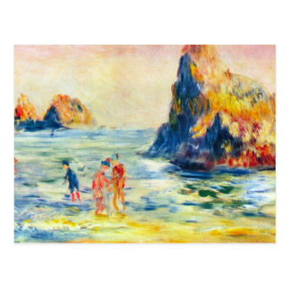 Cliffs at Guernsey by Pierre Renoir Postcard