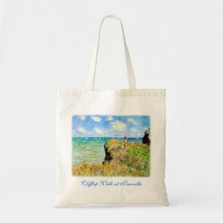 Clifftop Walk at Pourville by Claude Monet Tote Bag