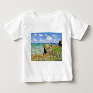Clifftop Walk at Pourville - Claude Monet Baby T-Shirt
