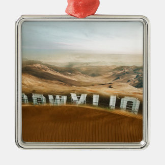 Climate Change Hollywood Desert Weather Change Christmas Ornament