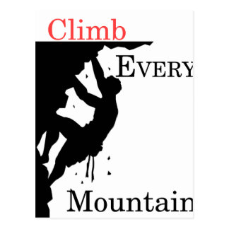 Climb Every Mountain Postcard