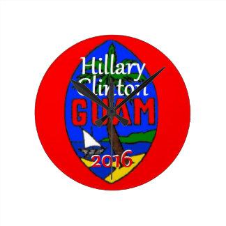 Clinton Guam 2016 Round Clock