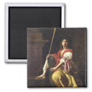 Clio, Muse of History, 1624 Square Magnet