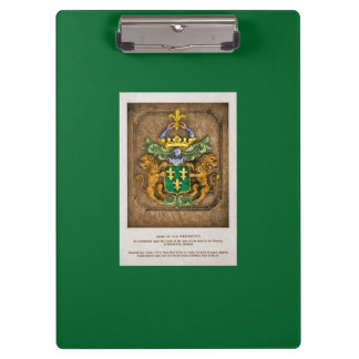 Clip Board: Westerfield Family Coat of Arms Clipboard