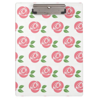 Clip Board with Roses