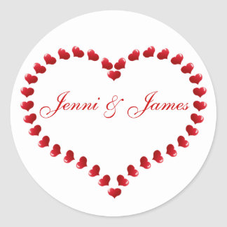 Clipart Heart Wedding Favour Stickers